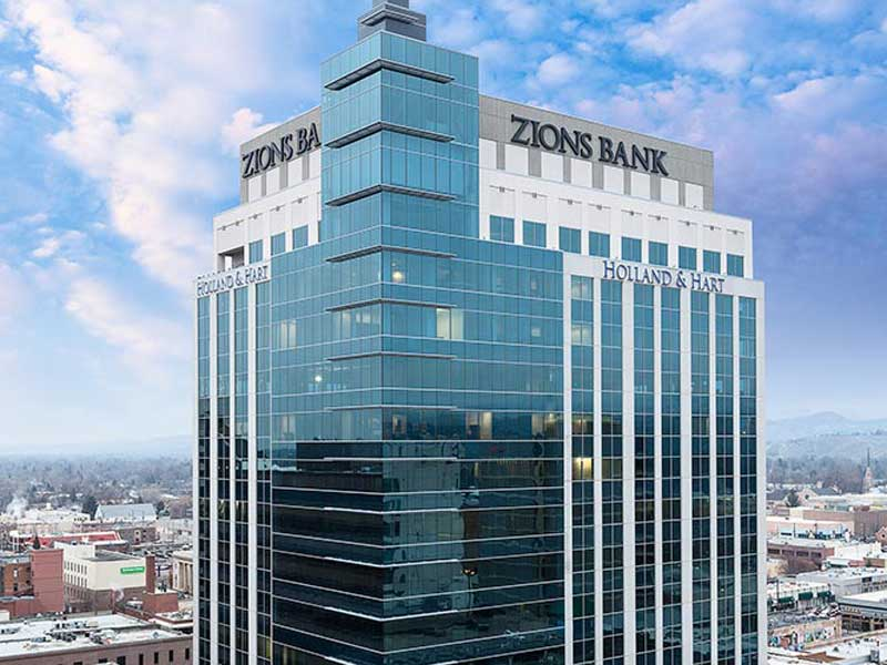 <strong>Zions Bank</strong> building an 11 story mixed use building is one of the tallest buildings in Boise. with a high pressure loop & Variable Air Volume space control. It was completed in 2015.